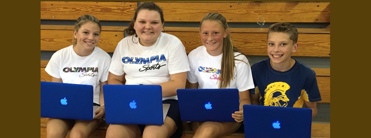 KCMS 8th Graders with Macbook Airs slideshow image