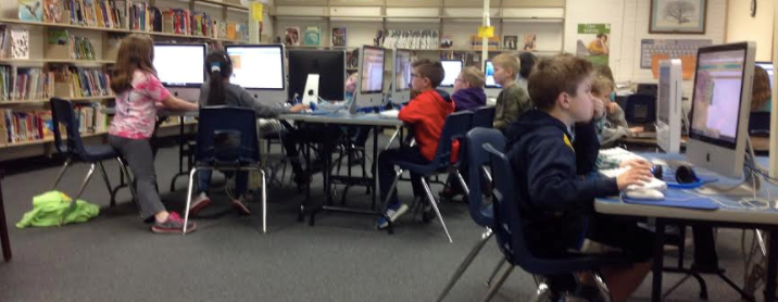 4th Grade is Coding in Media Class slideshow image