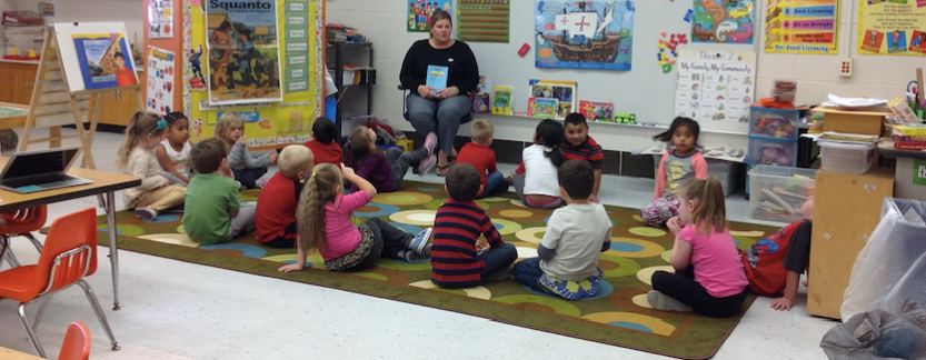 Mrs. Cannon with Pre-K slideshow image