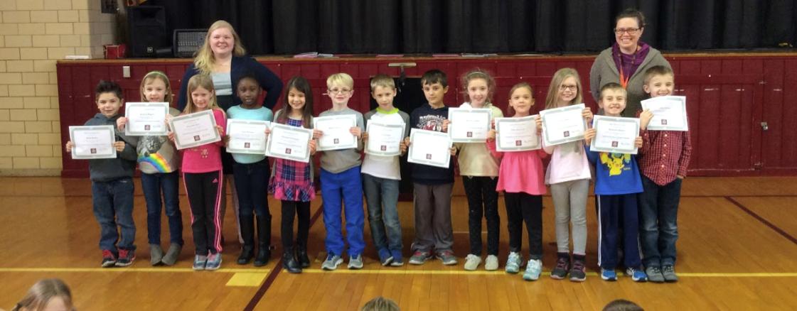 2nd Grade Honor Award Winners! slideshow image