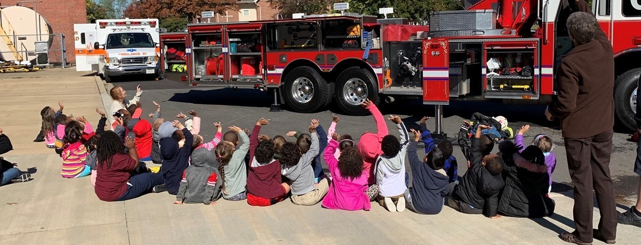 Chestertown Volunteer Fire Company Visits HHGES slideshow image